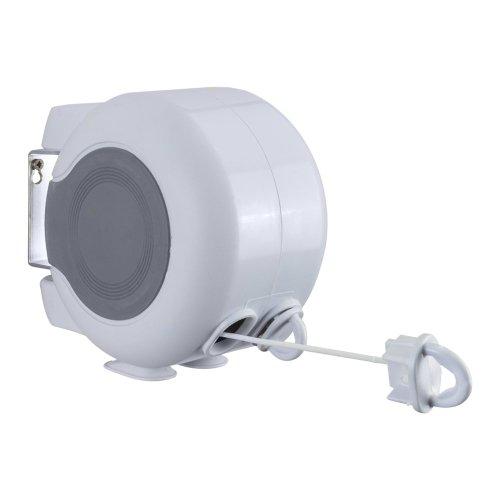 Metaltex - Filo Retrattile Doppio per stendere, per Esterni, Lunghezza 30 Metri