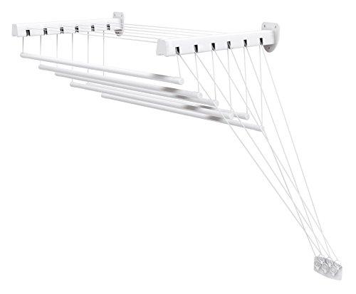 Gimi Lift 180 Stendibiancheria da Parete e Soffitto in Acciaio, Stendino da 10.5 m, metallo